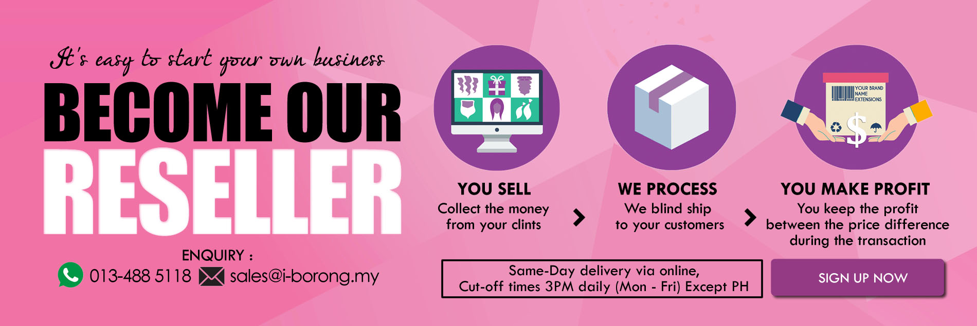 BECOME OUR SELLER