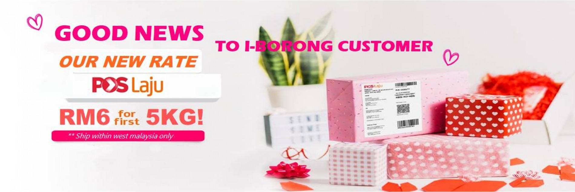 I-BORONG.MY - DROPSHIP POSLAJU FLAT RATE 5KG RM6 - WELCOME DROPS