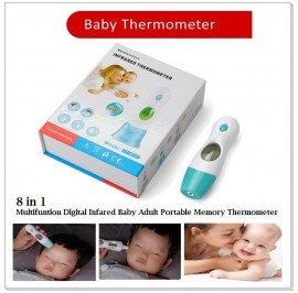 8 In 1 Baby Adult Non-touch Infrared Ear Forehead LCD Thermometer