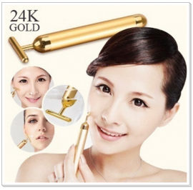 Japan Best Selling 24K Gold T Bar Beauty Face Slimming Vibration Massage