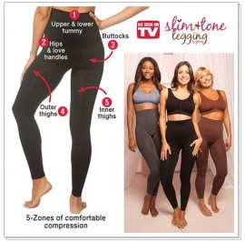 Slim & Tone Leggings By Genie In Black