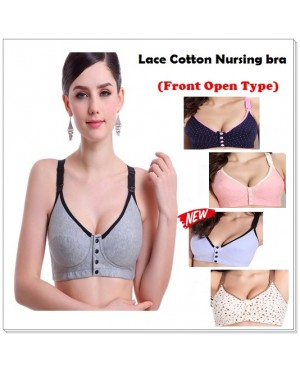 Maternity Breastfeeding Nursing Bra / Sleeping Bra (Front Open Type)