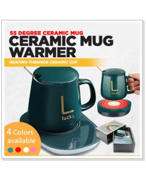 Smart 55 Degree temperature - Portable Ceramic Cup warmer / constant warmth coasters